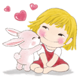 Orange the girl 12 with rabbit-daily