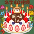 誕生日ケーキに名字を添えて5