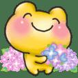 紫陽花*金色ふくふくかえる