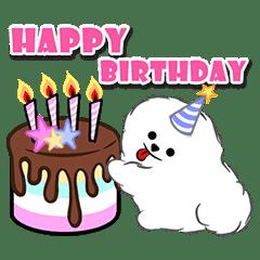 Stupendous Happy Birthday Cakes Animated Line Stickers Line Store Personalised Birthday Cards Veneteletsinfo