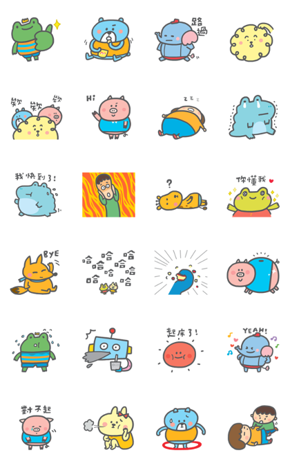 P714 Chubby Stickers
