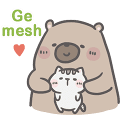 Mr. Bear and His Cutie Cat: In love