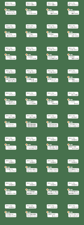 「【吹き出し】OKベーグルでベーグルが答える」のLINEスタンプ一覧