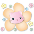 Cute pink cats intimate greetings