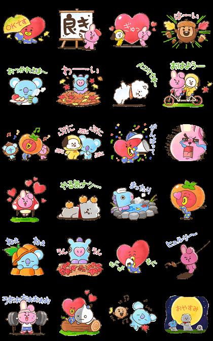 BT21 Warm & Fuzzy Stickers