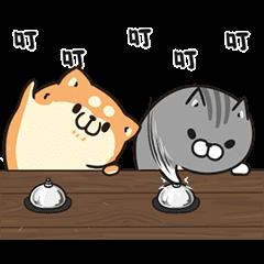 胖胖的狗和貓 動態貼圖 2
