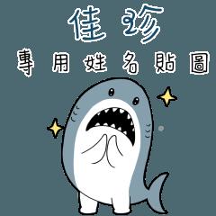 佳珍,這是你的伊逆鯊白一世鯊魚貼圖