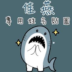 佳燕,這是你的伊逆鯊白一世鯊魚貼圖