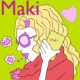 Maki only sticker!
