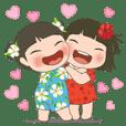 LINGLING and PEIPEI girls 25 - summer