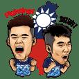 BADMINTON GOLDEN MEN'S DOUBLE - Lin/Yang