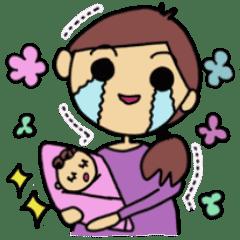 赤ちゃん生まれたよ(女の子)