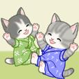 甚平さん猫ちゃんズ