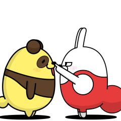 Moving rubbing rabbit part32