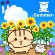 夏だ!ネコちゃん ハムちゃん