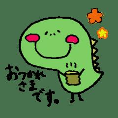 癒しの恐竜くんスタンプ♡