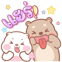 Pig & Bear Big Stickers