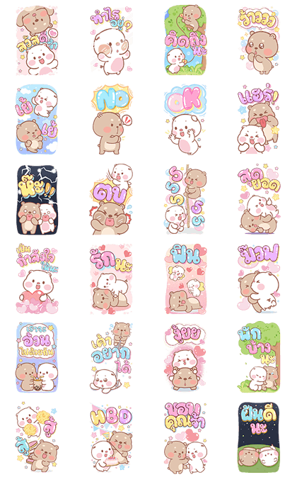 Pig & Bear Big Stickers
