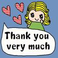 (cute english sticker95)