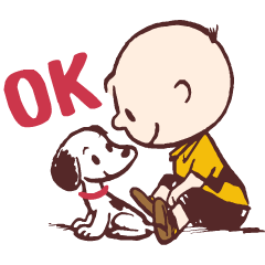 สติ๊กเกอร์ไลน์ Snoopy (50's)