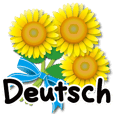 Thanks with flowers in Deutsch Rev.