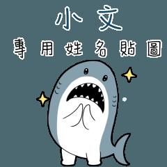 小文,這是你的伊逆鯊白一世鯊魚貼圖