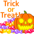 Trick or Treat! Halloween Sticker