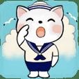 可愛い猫さん達のスタンプ♡夏編