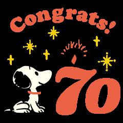 PEANUTS celebrating 70 years