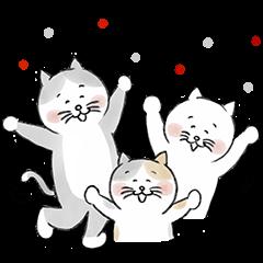 hokuohkurashi's cat stickers