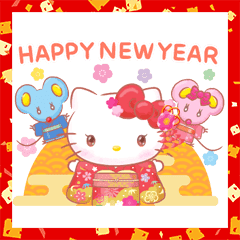 Hello Kitty's New Year's Gift Stickers