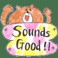 Bear cub ~English sticker 2~
