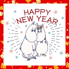 Animated Moomin New Year's Gift Stickers