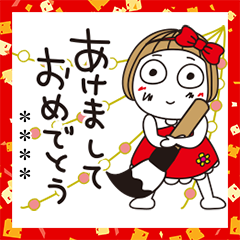 Custom Hanako New Year's Gift Stickers