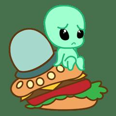 Aliyen Imut dan Hamburger Terbang 2