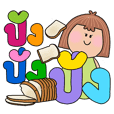 colorful BIG words with Sompan