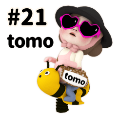 Pink Towel #21 [tomo_el] Name Sticker