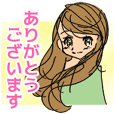 Girl and girl stickers - Honorific
