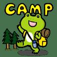 キャンプでカエルのぴーにゃ