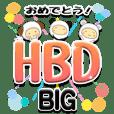 きぐるみ団【HBD☆お祝い】-BIG-