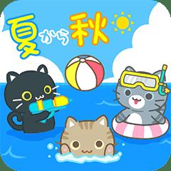 Three cats popup stickers summer&autumn