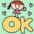 (cute english sticker150)