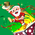 Happy moving Santa Claus