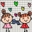 (かわいい日常会話スタンプ163)