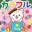 元気を届けるカラフルなお菓子のデカ文字♪