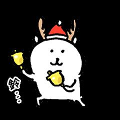 對自己吐槽的白熊 聖誕貼圖