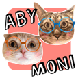 ABBEY & MONICA 's CAT Stickers 3