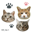 3cats photo Sticker_Korean Ver.1