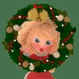 Blondy lady: animated sticker special v.