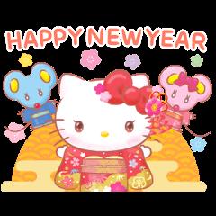 Hello Kitty 動態賀年貼圖